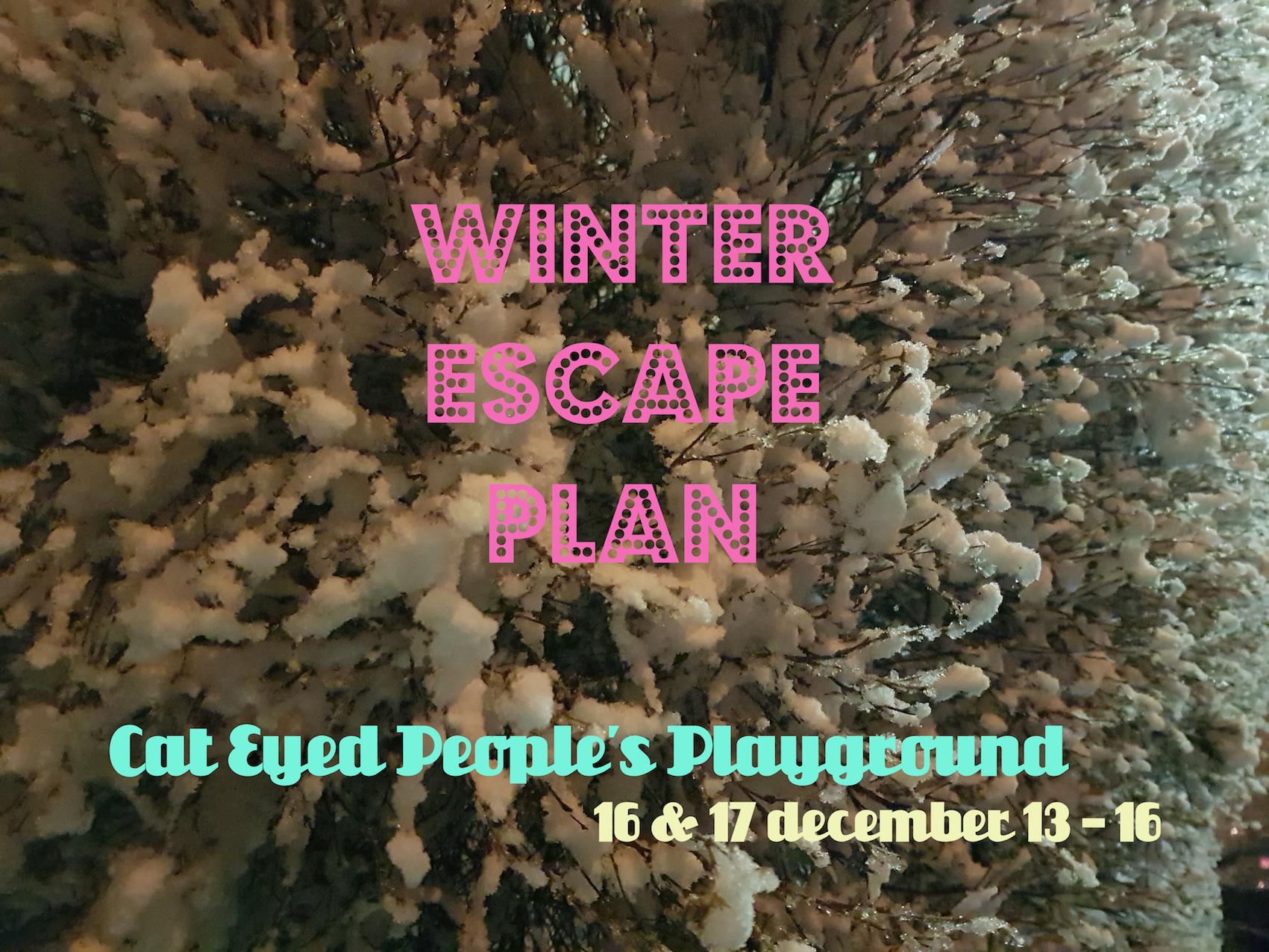 December 2017 coscene after an intense opening day during vesterbro raw we decided to present a second round of winter escape plan to crank up the heat a bit and to invite more stopboris Image collections